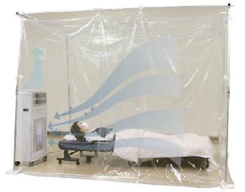 ウイルス感染の疑いのある患者さんが発生した場合、隔離対策用に使用できます。
