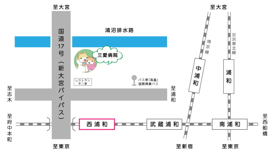 三愛病院地図